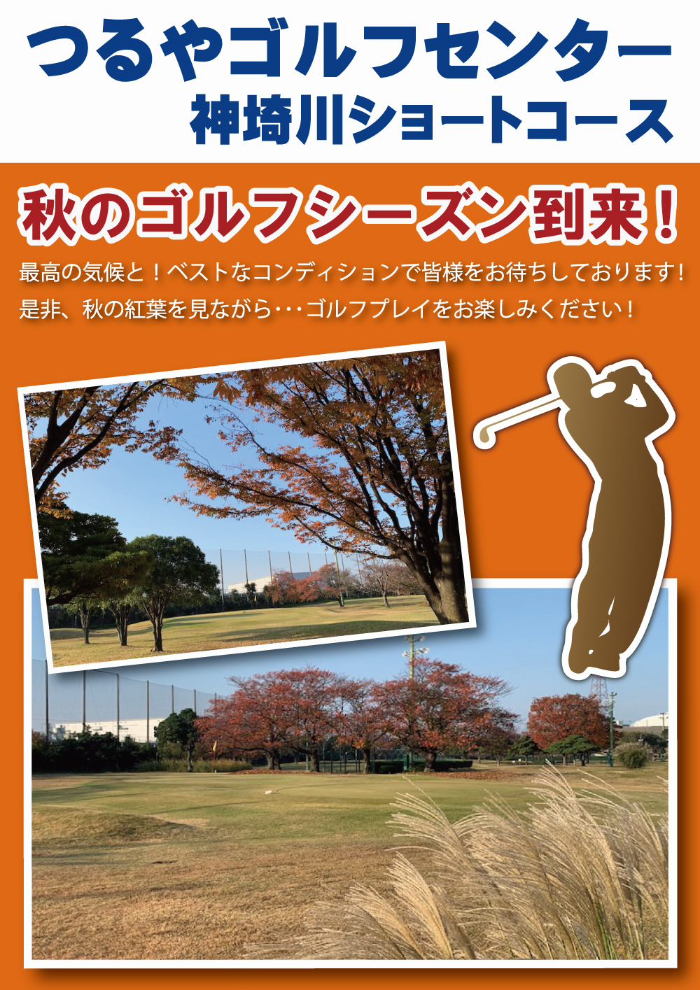 つるやゴルフセンター神埼川ショートコース 紅葉情報